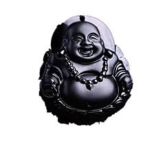 Недорогие Ожерелья-Муж. Янтарь Ожерелья с подвесками - Религиозные Серебряный Ожерелье Бижутерия Назначение Повседневные