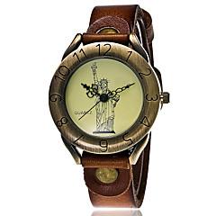 preiswerte Tolle Angebote auf Uhren-Damen Sportuhr Militäruhr Armbanduhr Quartz Cool Punk Leder Band Analog Charme Retro Freizeit Schwarz / Weiß / Blau - Grün Blau Dunkelrot