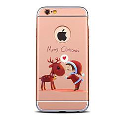 Недорогие Кейсы для iPhone 7 Plus-Кейс для Назначение Apple iPhone 7 / iPhone 6 / Кейс для iPhone 5 Защита от удара / Покрытие / Матовое Кейс на заднюю панель Рождество Твердый ПК для iPhone 7 Plus / iPhone 7 / iPhone 6s Plus
