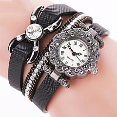 preiswerte Tolle Angebote auf Uhren-Damen Modeuhr Kleideruhr Armband-Uhr Quartz Cool Punk Mehrfarbig PU Band Analog Charme Glanz Retro Schwarz / Weiß / Blau - Blau Rosa Hellblau