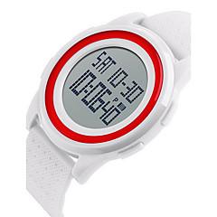SKMEI Herrn Sportuhr Armbanduhr digital LCD Kalender Wasserdicht Duale Zeitzonen Alarm leuchtend Stopuhr Caucho Band Cool Schwarz Weiß