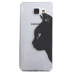 Etui Käyttötarkoitus Samsung Galaxy A5(2016) A3(2016) Läpinäkyvä Kuvio Takakuori Kissa Pehmeä TPU varten A5(2016) A3(2016)