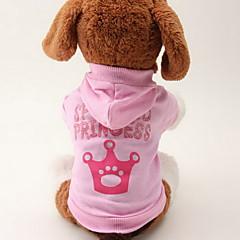 お買い得  犬用ウェア&アクセサリー-ネコ 犬 パーカー 犬用ウェア ティアラ、クラウン ピンク コットン コスチューム ペット用 女性用 ファッション