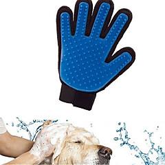 お買い得  犬用品&グルーミング用品-ネコ 犬 クリーニング バス 防水 高通気性 カジュアル/普段着 ブルー