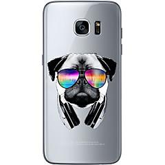 hoesje Voor Samsung Galaxy S7 edge S7 Ultradun Transparant Patroon Achterkantje Hond Zacht TPU voor S7 edge S7 S6 edge plus S6 edge S6
