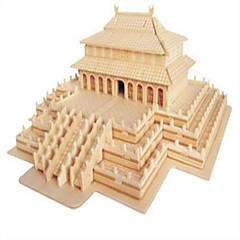 Puzzles Holzpuzzle Bausteine DIY Spielzeug Chinesische Architektur 1 Holz Elfenbein Model & Building Toy