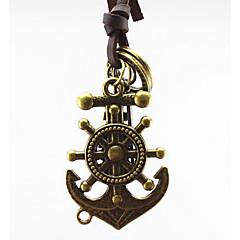 Муж. Ожерелья с подвесками Бижутерия анкер Кожа Сплав В виде подвески Панк Ручная работа Бижутерия Назначение Повседневные