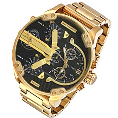 Men's Fashion Watch Wrist watch Military Watch Dress Watch Quartz Calendar / date / day Punk Dual Time Zones Alloy Band Charm Luxury