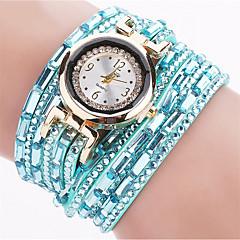 preiswerte Damenuhren-Damen Armband-Uhr Armbanduhr Quartz Schwarz / Blau / Silber leuchtend Cool Punk Analog damas Charme Glanz Retro Süßigkeit - Blau Rosa Hellblau