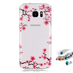 billige Galaxy S6 Etuier-Etui Til Samsung Galaxy S7 edge S7 IMD Transparent Mønster Bagcover Blomst Blødt TPU for S7 edge S7 S6 edge S6 S5 Mini S5