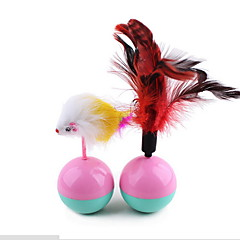 Cat Toy Pet Toys Interactive Feather Toy Tumbler Mouse Plastic Plush For Pets