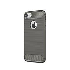 Til iPhone X iPhone 8 iPhone 7 iPhone 6 iPhone 5 etui Etuier Støvsikker Bagcover Etui Helfarve Blødt Karbonfiber for Apple iPhone X