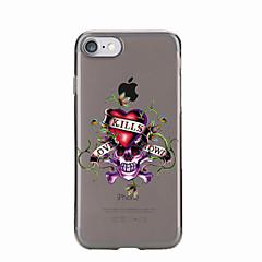 Недорогие Кейсы для iPhone 6 Plus-Для Полупрозрачный / С узором Кейс для Задняя крышка Кейс для Череп Мягкий TPU для AppleiPhone 7 Plus / iPhone 7 / iPhone 6s Plus/6 Plus
