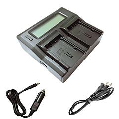 ismartdigi VBN130 260 lcd double chargeur avec câble de charge de voiture pour panasonic VBN130 260 batterys de caméra