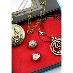 Óra/Karóra / Még több kiegészítő Ihlette Fullmetal Alchemist Edward Elric Anime Szerepjáték Kiegészítők Nyaklánc / Óra/Karóra / gyűrű