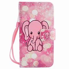 Χαμηλού Κόστους Θήκες / Καλύμματα για Motorola-Για μοτοσικλέτα moto g4 play g4 κάλυψη περίπτωσης ροζ ελέφαντα ζωγραφισμένο κορδόνι λουράκι pu υπόθεση