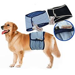 お買い得  ペット用品-犬 パンツ コットンブレンド おむつ 犬用ウェア 通気性 カジュアル/普段着 ソリッド ブラック ブルー コスチューム ペット用