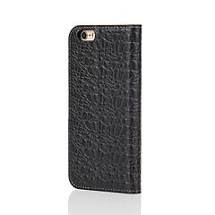 Недорогие Кейсы для iPhone-Для Кошелек / Бумажник для карт / со стендом / Флип Кейс для Чехол Кейс для Один цвет Твердый Натуральная кожа для AppleiPhone 7 Plus /