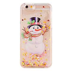 Недорогие Кейсы для iPhone 5с-Кейс для Назначение Apple Кейс для iPhone 5 iPhone 6 iPhone 7 Движущаяся жидкость Кейс на заднюю панель Рождество Твердый ПК для iPhone 7