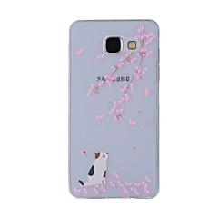 Voor Samsung Galaxy a8 (2016) a8 case cover kersen kat geschilderd patroon tpu materiaal telefoon hoesje voor a7 a5 a3 a510 a310