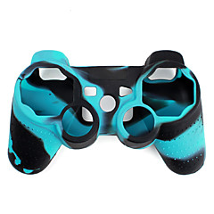 cheap PS3 Accessories-Protective Dual-Color Silicone Case for PS3 Controller (Blue and Black)