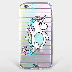 olcso iPhone tokok-Case Kompatibilitás Apple iPhone X iPhone 8 Plus iPhone 7 iPhone 6 iPhone 5 tok Ultra-vékeny Átlátszó Minta Hátlap Egyszarvú Puha TPU mert