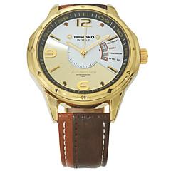 preiswerte Tolle Angebote auf Uhren-Herrn / Unisex Modeuhr / Armbanduhr Kalender / Wasserdicht / Cool Echtes Leder Band Luxus / Freizeit Mehrfarbig