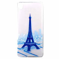 Для Ультратонкий / С узором Кейс для Задняя крышка Кейс для Эйфелева башня Мягкий TPU для Sony Sony Xperia XA / Sony Xperia E5