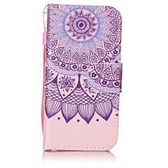 Для Кошелек / Бумажник для карт / со стендом / Флип / С узором Кейс для Чехол Кейс для Мандала Твердый Искусственная кожа для AppleiPhone