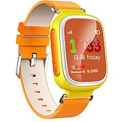 preiswerte Herrenuhren-Sportuhr Modeuhr Smartwatch Digital Wasserdicht Herzschlagmonitor Touchscreen Leder Band digital Charme Freizeit Regenbogen Blau / Orange / Rosa - Orange Blau Rosa / Kalender / Chronograph / LED