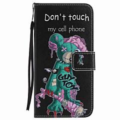 Voor google pixel xl pixel case cover een-ogen muis beschilderde lanyard pu telefoon hoesje