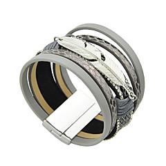 preiswerte Armbänder-Damen Lederarmbänder - Freunde Armbänder Silber / Grau / Blau Für Normal