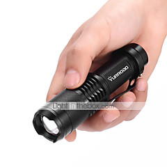 High>Middle>Low>Strobe>SOS LED Flashlights / Torch LED 2000 lm 5 Mode Cree XM-L T6 Mini Adjustable Focus Impact Resistant Nonslip grip