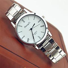 preiswerte Armbanduhren für Paare-Paar Armbanduhr Schlussverkauf Edelstahl Band Freizeit / Modisch Weiß