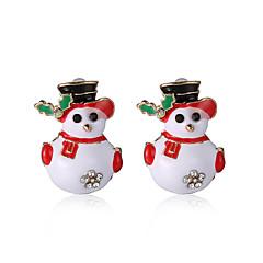 Σκουλαρίκι Κουμπωτά Σκουλαρίκια Κοσμήματα Γυναικεία / Κορίτσια Πάρτι / Καθημερινά Κράμα 1 ζευγάρι Χρυσαφί / Λευκό / Κόκκινο