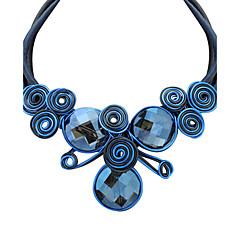 Női Nyilatkozat nyakláncok Circle Shape Szintetikus drágakövek Üveg Ötvözet Euramerican Régies (Vintage) Viktorijanski minimalista