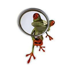 ziqiao 3d kurbağa su geçirmez araba sticker komik geko otomobiller&motosiklet sticker çıkartma