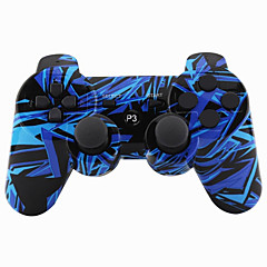 cheap PS3 Controllers-Wireless Joystick Bluetooth DualShock3 Sixaxis Rechargeable Controller Gamepad for PS3 (Multicolor)