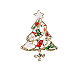 Women's Girls' Boys' Brooches Chrismas Alloy Jewelry For Party Daily Christmas Gifts