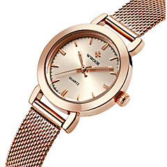 cheap Elegant Watches-WWOOR Women's Quartz Wrist Watch Water Resistant / Water Proof Stainless Steel Band Charm Luxury Casual Fashion Silver Gold Rose Gold
