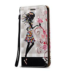 Недорогие Кейсы для iPhone 5-Кейс для Назначение Apple iPhone 8 / iPhone 8 Plus / iPhone 7 Бумажник для карт / со стендом / Флип Чехол Соблазнительная девушка Твердый Кожа PU для iPhone 8 Pluss / iPhone 8 / iPhone 7 Plus