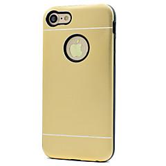 お買い得  iPhone 5S/SE ケース-ケース 用途 Apple iPhone 5ケース iPhone 6 iPhone 7 耐衝撃 バックカバー 純色 ハード メタル のために iPhone 7 Plus iPhone 7 iPhone 6s Plus iPhone 6s iPhone 6 Plus