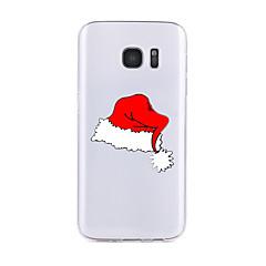 billige Galaxy S6 Edge Etuier-Etui Til Samsung Galaxy S7 edge S7 Transparent Mønster Bagcover Jul Blødt TPU for S7 edge S7 S6 edge plus S6 edge S6 S6 Active S5 S4