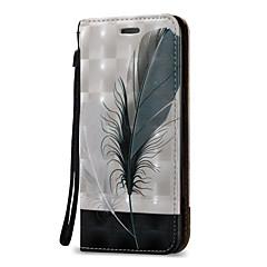 お買い得  Samsung その他の機種用ケース/カバー-ケース 用途 Samsung Galaxy J7(2016年) J5 (2016) カードホルダー ウォレット フリップ フルボディーケース 羽毛 ハード PUレザー のために On 5 J7 (2016) J7 J5 (2016) J5 J3 (2016) J3 J1