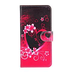 Для Кошелек / Бумажник для карт / со стендом / Флип Кейс для Чехол Кейс для С сердцем Твердый Искусственная кожа для AppleiPhone 6s