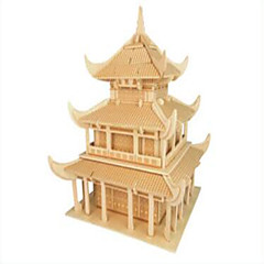 Puzzles Holzpuzzle Bausteine Spielzeug zum Selbermachen Berühmte Gebäude Chinesische Architektur 1 Holz Elfenbein Model & Building Toy