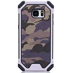 halpa Galaxy S6 kotelot / kuoret-Etui Käyttötarkoitus Samsung Galaxy Iskunkestävä Takakuori Armeijatyyli Kova TPU varten S7 S6 S5 S4