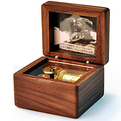 billige Music Box-Spilledåse Træ Kvadrat Originale Slottet i himlen Åndeligt tilflugtssted Kanon Kreativ Pige Drenge Gave