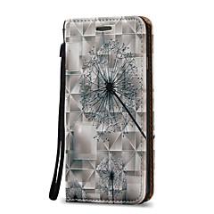 Для Бумажник для карт / со стендом / Флип Кейс для Чехол Кейс для Одуванчик Твердый Искусственная кожа для AppleiPhone 7 Plus / iPhone 7