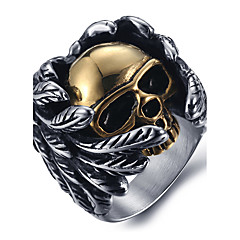 cheap Women's Jewelry-Men's Ring Statement Ring Silver Titanium Steel Skull Fashion Halloween Daily Casual Costume Jewelry